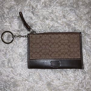 EUC {COACH} Mini Logo Skinny ID Card Case